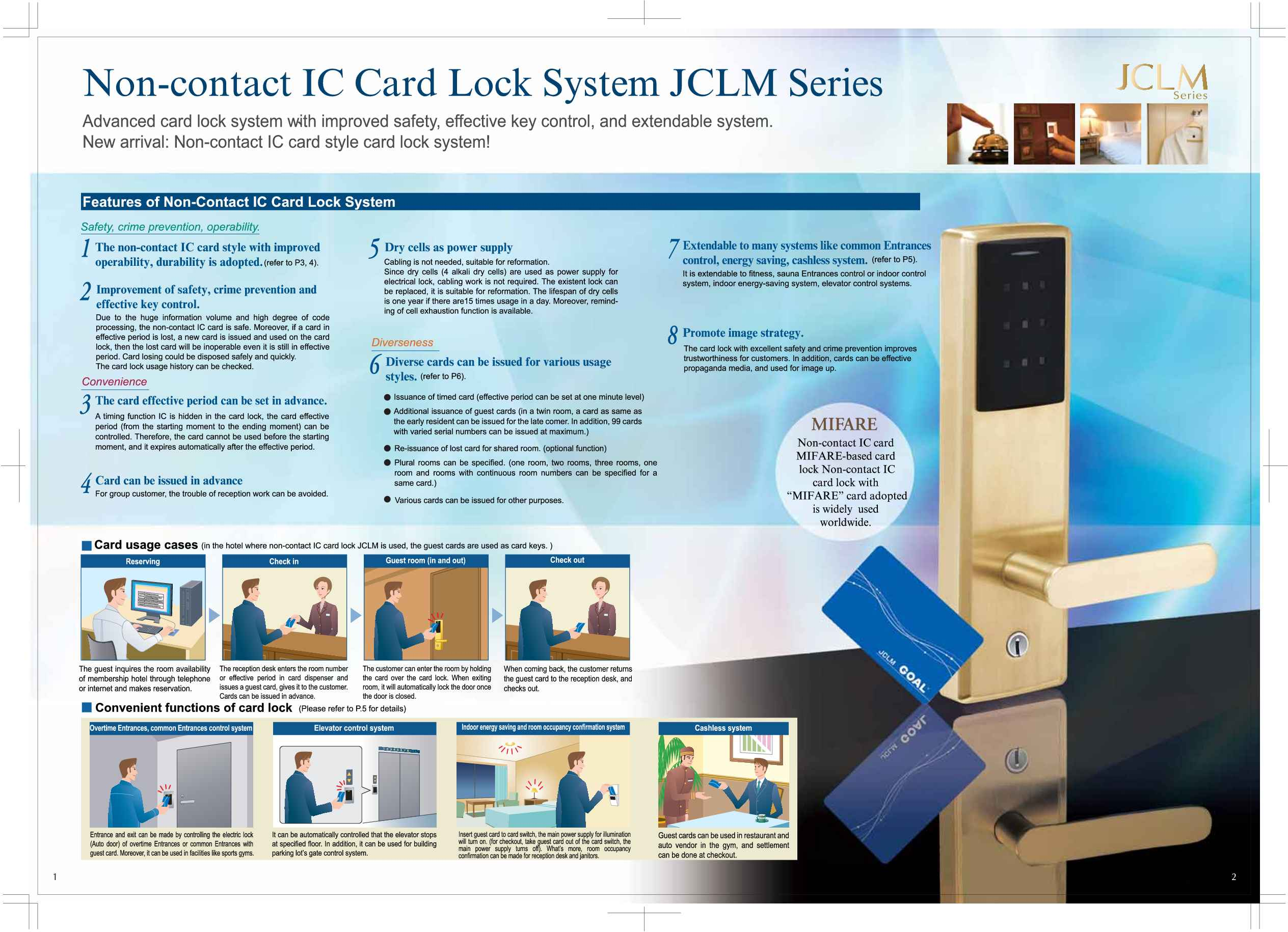 NHN Japan Electronic Digital Lock Model Hotel lock